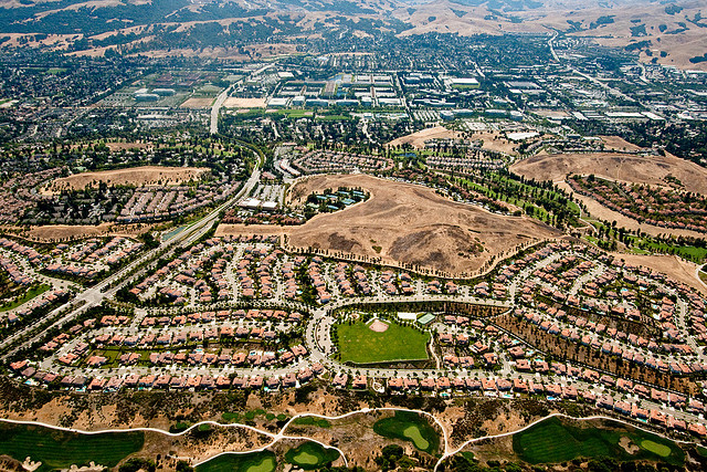 Leapfrog suburb in the Easy Bay, California