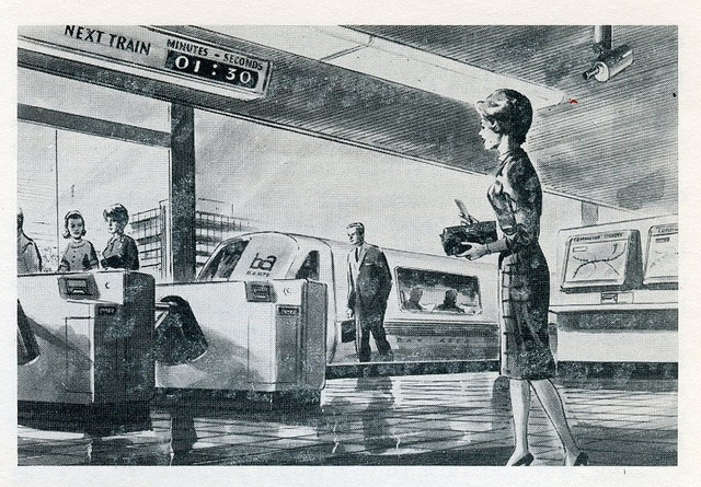 BART station illustration, 1967