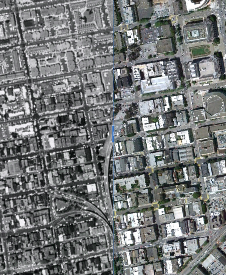 Click to view interactive before-and-after photographs of Octavia Blvd.