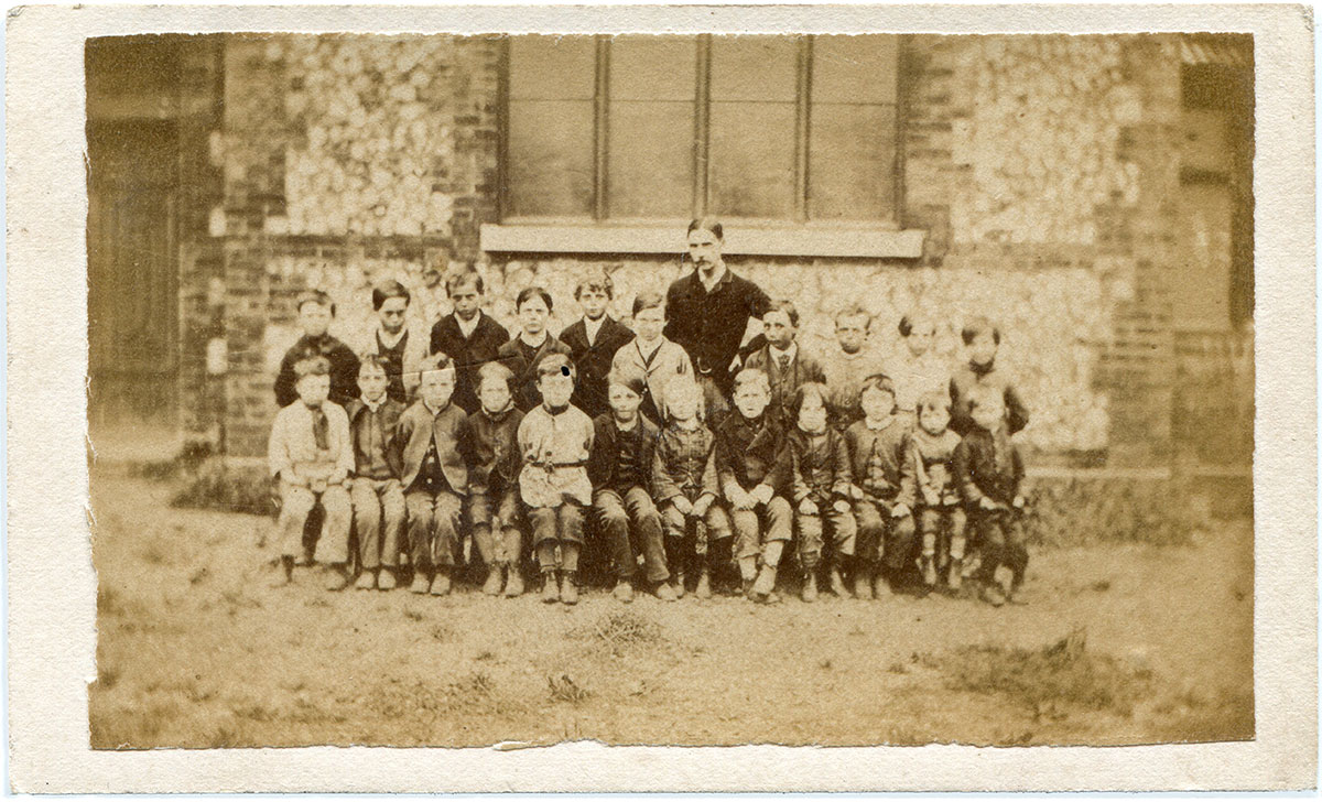 Class portrait, unknown English school (undated)