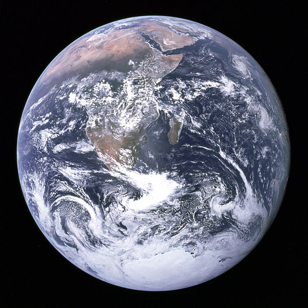 Original Blue Marble from Apollo 17 in 1972