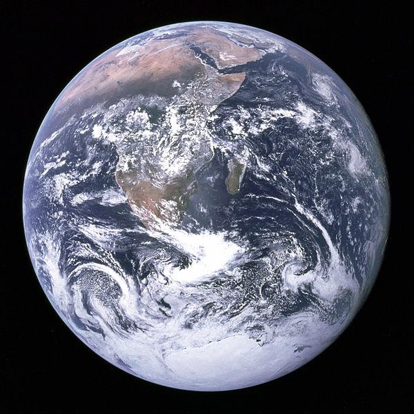 Original Blue Marble from Apollo 17 in 1972