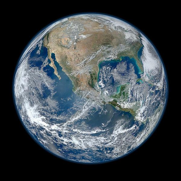 Blue Marble 2012, Western Hemisphere