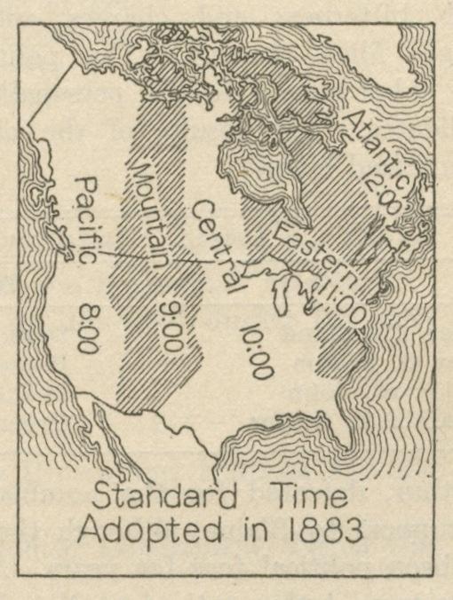 Central time zone, circa 1883