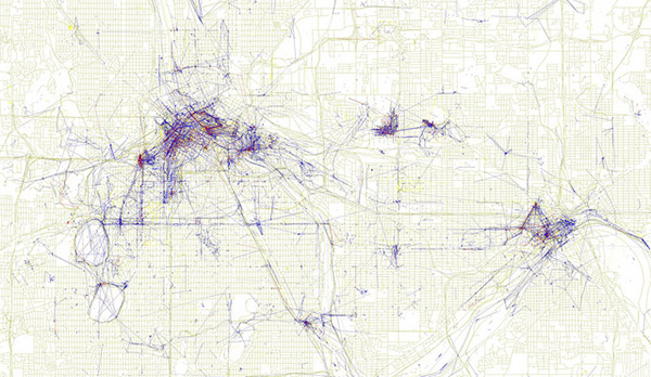 Map of photos taken in Minneapolis and St. Paul, Minnesota