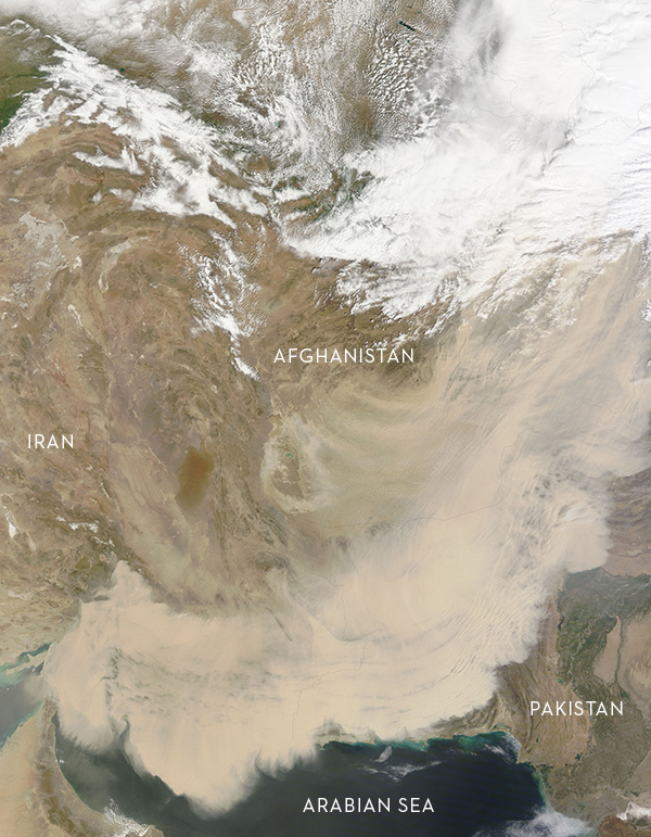 Middle East dust storm, March-2012