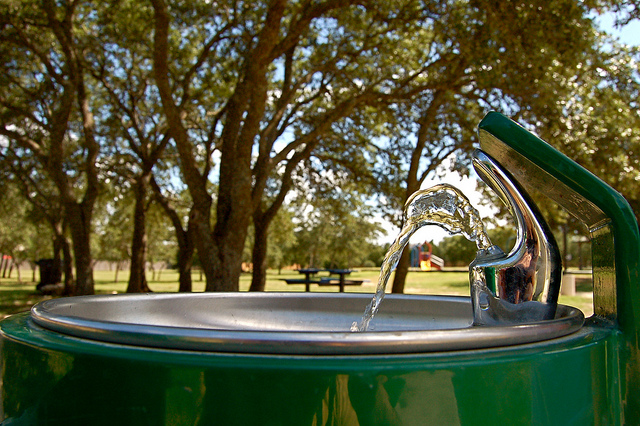 Bubbler in a city park