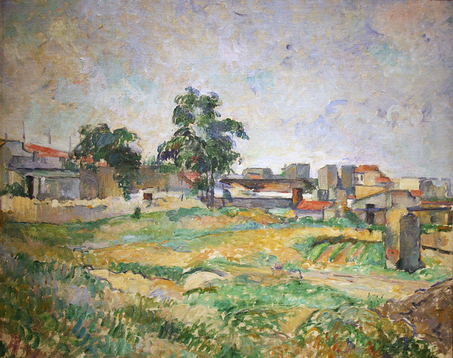 Landscape near Paris, Paul Cézanne