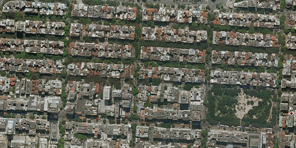 Income inequality, as seen from space — Per Square Mile