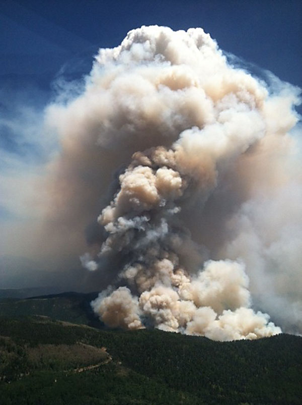 Aerial view of the Little Sand Wildfire