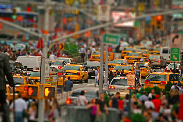 Rush hour, New York City