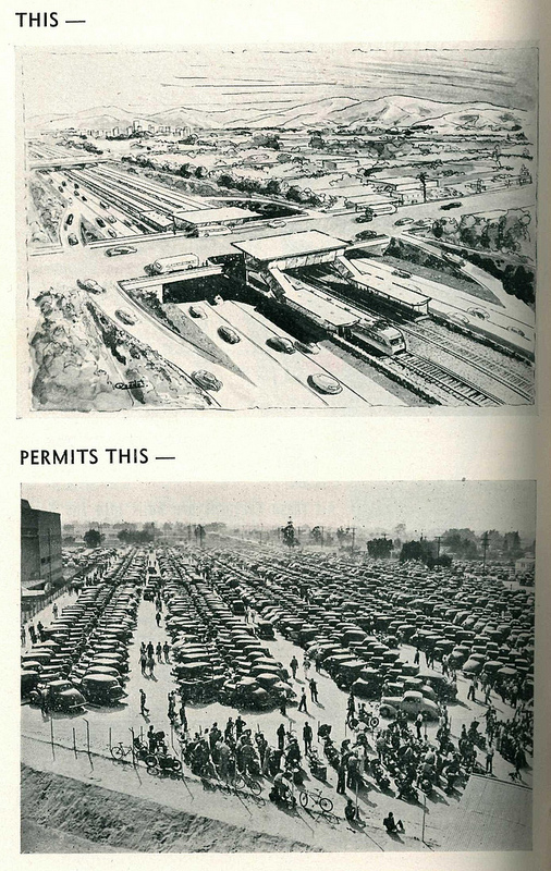 Freeways and parking, 1948